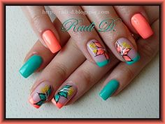 It`s all about nails: Flip Flop & Turquoise