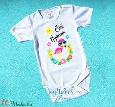 Első Nyaram - Flamingo - feliratos gyermek kombidressz (body) aranyos grafikával gyönyörű nyárias színekben Body, Elsa, Onesies, Clothes, Fashion, Outfits, Moda, Clothing, Fashion Styles