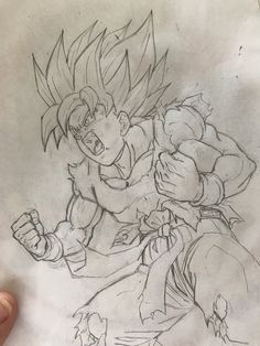 Discover recipes, home ideas, style inspiration and other ideas to try. Dbz Drawings, Pencil Drawings, Ball Drawing, Estilo Anime, Dragon Ball Gt, Sketches, Fan Art, Artwork, Pikachu Pikachu