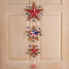 3 Tier Patriotic USA Rustic Stars of July Hanging Door Wreath Decoration Fourth Of July Decor, 4th Of July Decorations, 4th Of July Wreath, July 4th, Patriotic Bunting, Patriotic Wreath, Hanging Stars, Outside Decorations, Home Decor Catalogs