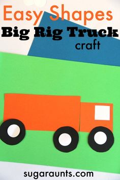 Do you love Children? Why not volunteer  with Via Volunteers in South Africa and make a difference! https://www.viavolunteers.com/   Easy Shapes Big Rig truck craft