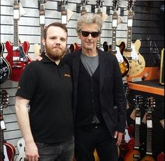 @guitarguitarglasgow on Instagram. 15/9/17  Well, Peter said he was going to concentrate on his music!!!