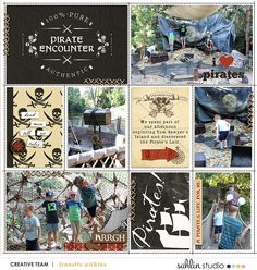 Disneyland Pirate's Lair digital project life page using Project Mouse (Pirates) by Britt-ish Designs and Sahlin Studio