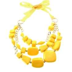 MaxMara Tamara bead necklace (7.590 RUB) ❤ liked on Polyvore featuring jewelry, necklaces, accessories, jewels, jewelry - necklaces, yellow necklace, jewel necklace, bead necklace, strand necklace and double strand beaded necklace