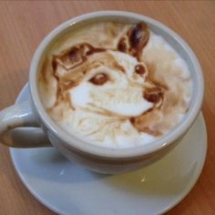 The Most Satisfying Cappuccino Latte Art - Coffee Brilliant Cappuccino Art, Coffee Latte Art, Cappuccino Machine, I Love Coffee, Coffee Cafe, Coffee Break, Coffee Drinks, Dog Coffee, Coffee Machine