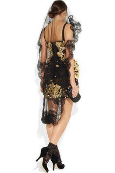 Dolce & Gabbana|Lace-appliqué tulle veil|NET-A-PORTER.COM