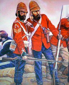 British soldiers British Army Uniform, British Uniforms, British Soldier, Military Uniforms, Military Art, Military History, British Armed Forces, Diorama Ideas, British Colonial