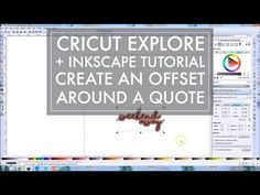 Cricut + Inkscape Tutorial // How to Make an Offset in Inkscape Around Words Inkscape Tutorials, Cricut Tutorials, Cricut Ideas, Printable Stickers, Printable Planner, Creative Market Fonts, How To Make Stickers, Cricut Software, Making Words
