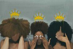 Ideas Black Art Queens Natural Hair African Americans For 2019 Art Black Love, Black Girl Art, Black Girls, Black Art Painting, Black Artwork, Hair Painting, African American Art, African Art, Tatto Skull