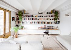 Barcelona apartment by Bach Arquitectes with encaustic floor tiles