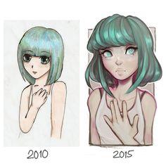 Five year improvement - Cyarin (Laura) - DeviantArt