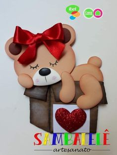Foam Crafts, Diy And Crafts, Crafts For Kids, Arts And Crafts, Paper Crafts, Cute Teddy Bears, Cellphone Wallpaper, Nature Crafts, Punch Art