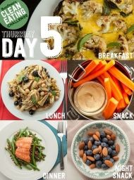Clean Eating Challenge Day 5 This is a two-week detox plan that's actually realistic. You'll learn to eat healthy, feel awesome, and stay that way. Clean Eating Plans, Clean Eating Diet, Healthy Eating, Whole Food Recipes, Diet Recipes, Healthy Recipes, Diet Tips, Lunch Recipes, Cooking Recipes