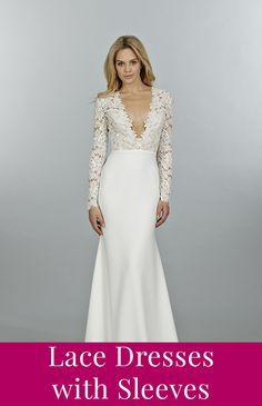 Lace wedding dresses with sleeves!