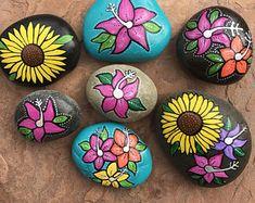 Hand Painted beach rocks