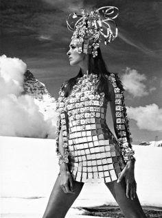-Paco Rabanne-  'Maud in aluminium chainmail dress'  (1966)