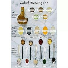 Salad dressing guide