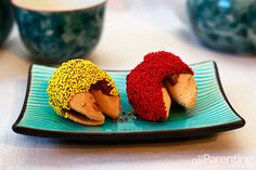 Chocolate-dipped fortune cookies - activities for #kids for Chinese New Year