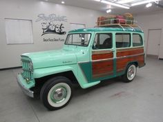 1962 Jeep Steel Station Wagon - love the mint green color!