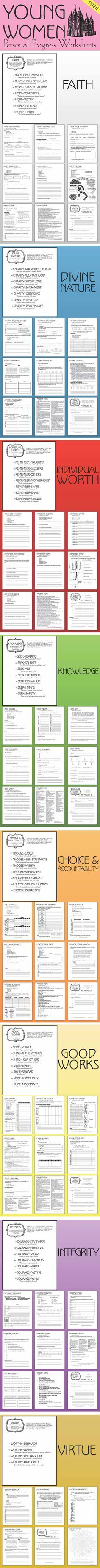 These Personal Progress Worksheets have changed the program in our ward, the girls are loving it! Plus it's FREE!!!