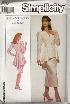 Simplicity 80s Fashion Sewing Pattern by AdeleBeeAnnPatterns, $8.00