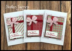 Homemade Christmas Cards, Stampin Up Christmas, Christmas 2016, Christmas Wishes, Homemade Cards, Christmas Crafts, Xmas Cards, Holiday Cards, Gift Wrapping Bows