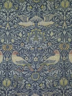 """William Morris, bird fabric (detail), 1878, wood, doublecloth. Part of """"The Cult of Beauty: The Victorian AVant-Garde, 1960-1900,"""" Feb. 18-J..."""