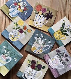 559 vind-ik-leuks, 78 reacties - Debbie George (@debbiegeorgepainter) op Instagram: 'Eight new cards have just been published of my work by The Courtauld Gallery, @courtauldshop . I…' Floral Paintings, Plant Art, Pots, Vase, Artists, Gallery, Illustration, Instagram Posts, Cards