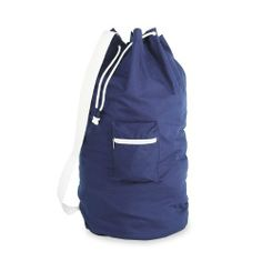 Navy Cotton Laundry Duffel by The Storage Store. $10.12. Color: BlueSize: 22 x 28. Made of Cotton. Zipper pocket. Includes shoulder strap. For quick trips to the laundromat or even your home laundry room, this Navy Cotton Laundry Duffel by Whitmor is a great way to keep your clothes neatly contained until laundry day. Made from 100% cotton, this large capacity bag is perfect for carrying a big load to the washer machine. The bag features an easy to use, convenient drawstring cl...