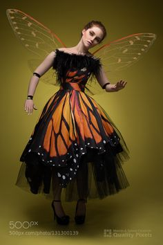 Butterfly doll - Pinned by Mak Khalaf Model: HollyAlana Make-up: Kasia Trela Dress: Ewa Jobko Photo and digital art: Quality Pixels Photography (Marcin & Sylwia Ciesielski) Fine Art buterflydollmonarchooak by qpixels