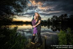 """This couple portrait of Becky & John was taken at sunset in Norwich. It won a """"highly commended"""" award in the Societies August 2014 Portrait - Environmental competition"""