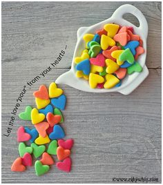 Homemade jumbo heart sprinkles...EASIEST and CHEAPEST things you ever made!
