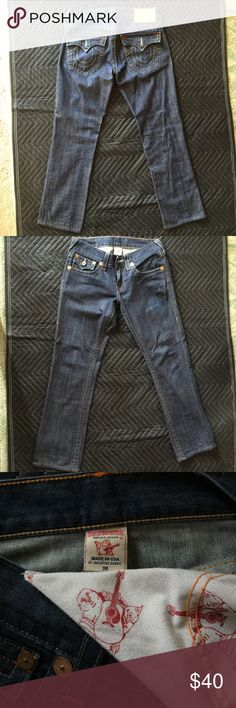 True Religion Mens Jeans Size 34 Straight W/Flap Devils ...