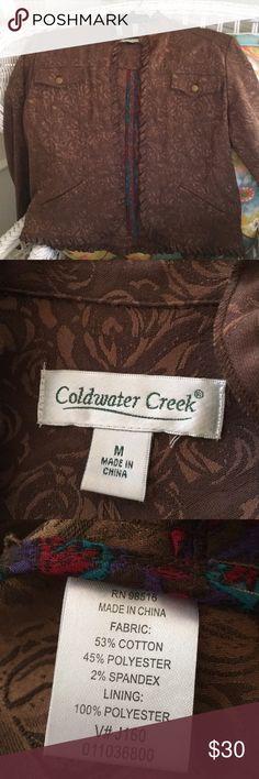Coldwater Creek Jacket Beautiful scalloped edge jacket. Excellent condition. Coldwater Creek Jackets & Coats