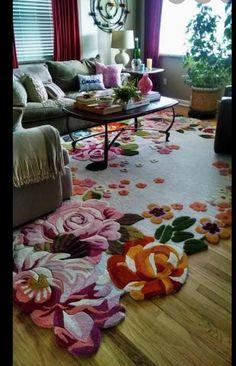 Living Room Carpet, Rugs In Living Room, Living Room Decor, Bedroom Decor, Tapete Floral, Tapis Design, Colourful Living Room, Deco Boheme, Room Rugs
