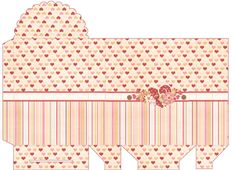 Cardboard Box Crafts, Paper Crafts, Box Templates Printable Free, Paper Templates, Diy Box, Miniature Dolls, Journal Cards, Valance Curtains, Miniatures