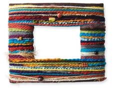 Great idea for what to do with left over yarn scraps!    http://michaels.com/yarn-wrapped-frame/29035,default,pd.html