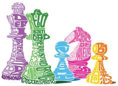 Oscar Wilson.  – Futurestep Chess Font Art, Typography Art, King Design, Design Art, Word Pictures Art, Word Drawings, Illustrator Tutorials, Collage, Graphic Illustration