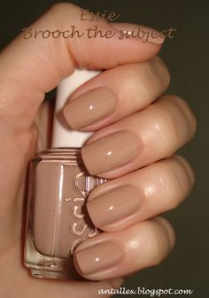essie/nude/brooch the subject