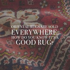 If you can see the same design on the back as on the front of a rug, that means it's woven!