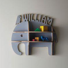 Personalised Child's Elephant Shelfie - children's furniture