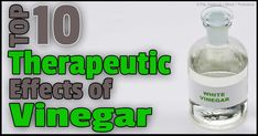 Vinegar, commonly used for cooking, is significantly emerging as a functional food that provides many health benefits. http://articles.mercola.com/sites/articles/archive/2014/06/14/vinegar-health-properties.aspx