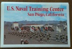 Postcard U.S. Naval Training Center San Diego Ca 14 Pictures Fold-out Post Card