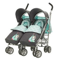 Obaby Apollo Twin Stroller Mickey Mouse