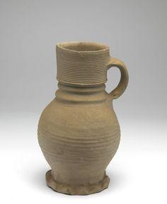 jug 1350 - 1375 Dimensions h. 21.8 x w. 13.5 x d. 12.4 cm Material and technique stoneware