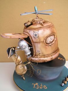 Steampunk Birthday Cake