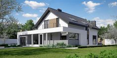 Projekt domu HomeKoncept-02 159,77 m2 - koszt budowy - EXTRADOM House Layout Plans, House Layouts, House Plans, Bungalow House Design, Modern House Design, Cottage Plan, Cabin Design, Facade House, Home Design Plans
