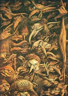 Some Brian Froud goblins, from his 'Faeries' book (with Alan Lee).