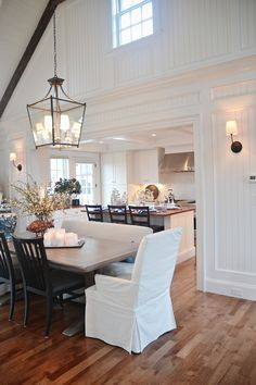hgtv dream home ~ hgtv dream house 2020 - hgtv decorating ideas - hgtv - hgtv home town - hgtv fixer upper - hgtv kitchens - hgtv dream home - hgtv dream home 2019 Home Design, Interior Design, Nantucket, Hgtv Dream Homes, White Master Bathroom, Dining Room Lighting, Dining Rooms, Dining Area, Guest Bedrooms