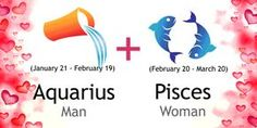 Love match compatibility between Aquarius man and Pisces woman. Read about the Aquarius male love relationship with Pisces female.